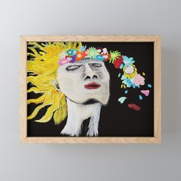 Flower Power Framed Mini Art Print