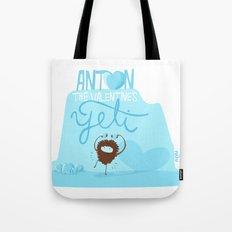 Anton, the Valentine´s Yeti Tote Bag