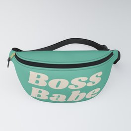 Retro Boss Babe - Green Fanny Pack