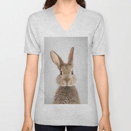 Rabbit - Colorful Unisex V-Neck