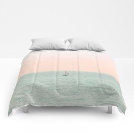 Sky Blush x Ocean Art Comforters