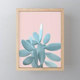 Blush Cactus #1 #plant #decor #art #society6 Framed Mini Art Print