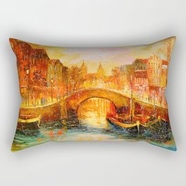 In the evening in Amsterdam Rectangular Pillow