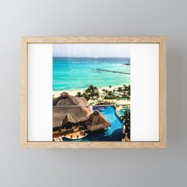 Cancun Ocean view Framed Mini Art Print