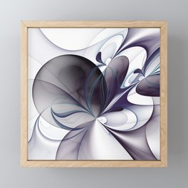 Easiness, Abstract Modern Fractal Art Framed Mini Art Print