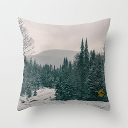 Lost in Winter Throw Pillow