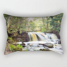 Upper Chapel Falls at Pictured Rocks National Lakeshore - Michigan Rectangular Pillow