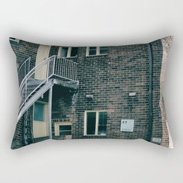 Brick Building Toilets Rectangular Pillow