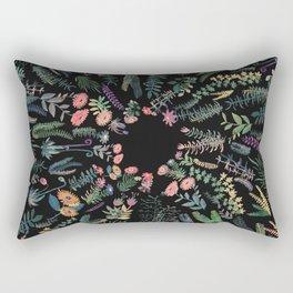 Drak circular garden Rectangular Pillow