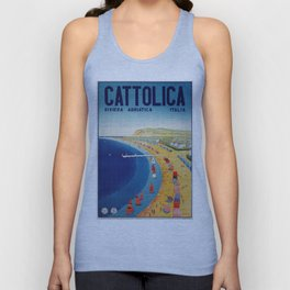 Cattolica 1920s Italy travel Unisex Tank Top
