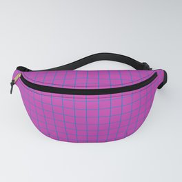 Grid Pattern - magenta and teal - more colors Fanny Pack