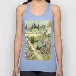 Vincent Van Gogh : Garden at Arles Unisex Tank Top