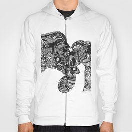 Elephants in Robyntangle of Love Hoody