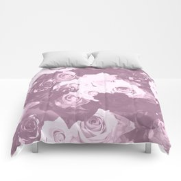 Rose bouquet - beautiful roses from rose garden - vintage style Comforters