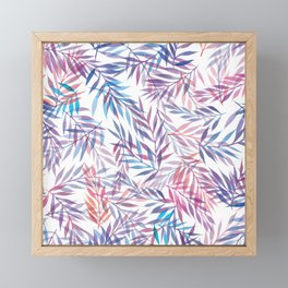 Watercolour Ferns | Sunset Colours Framed Mini Art Print