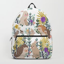 Hedgehogs bunnies and mice Backpack