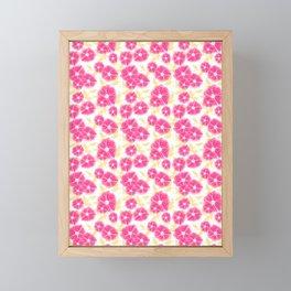 12 Sketched Mini Flowers Framed Mini Art Print