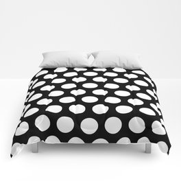 Black with White Polka Dots Comforters