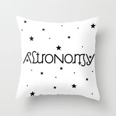 Astronomy Ambigram Throw Pillow