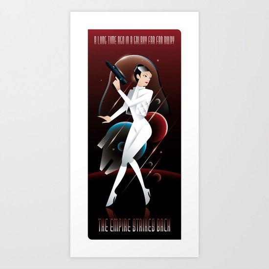 Empire Strikes Back-Leia Art Print