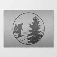 hiking Canvas Prints featuring Hiking by Paul Simms