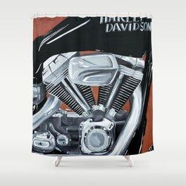 Harley Rider Shower Curtain