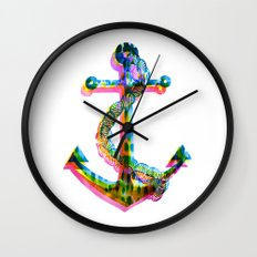 CMYK Anchor Wall Clock