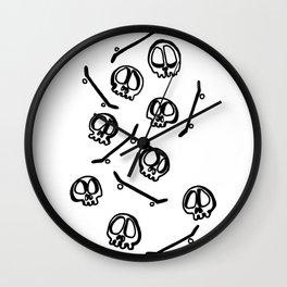 Sk8 Skulls Wall Clock