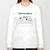bar Long Sleeve T-shirts featuring Genius Bar by science fried art
