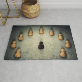 one pawn surrounded Rug