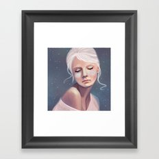 Her Cheeks Glowed with the Constellations of Lovers Framed Art Print