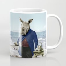 Mr. Rhino's Day at the Beach Mug