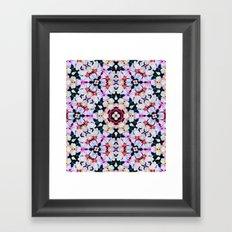 Kaleidoscope Flowers  Framed Art Print