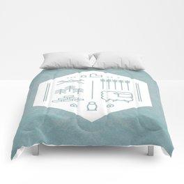 Settlers Line Art Comforters