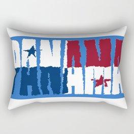 Panama Font with Panamanian Flag Rectangular Pillow
