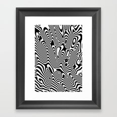 Trippy Background Framed Art Print