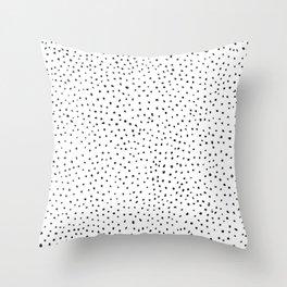Dotted White & Black Throw Pillow