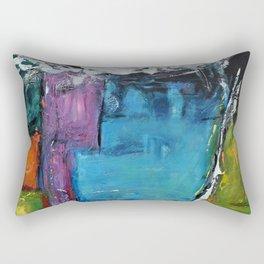 TETRIS, Abstract  Acrylic Painting, colorful mosaic Rectangular Pillow