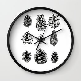 Pinecone study Wall Clock