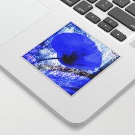 Blue Poppy vintage 222 Sticker