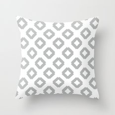 Graphic_Tile Grey Throw Pillow
