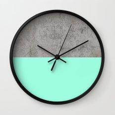 Sea on Concrete Wall Clock
