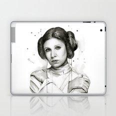 Princess Leia Watercolor Carrie Fisher Portrait Laptop & iPad Skin