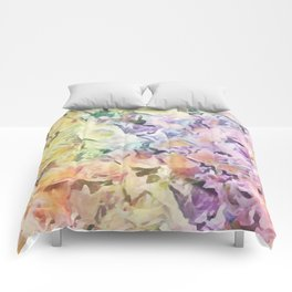Vintage Soft Pastel Floral Abstract Comforters