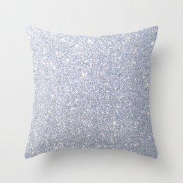 Silver Metallic Sparkly Glitter Throw Pillow