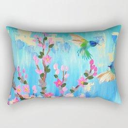 Aqua and pink Rectangular Pillow