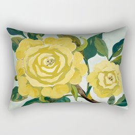 Yellow tempera roses Rectangular Pillow
