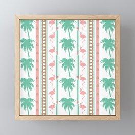 Art Deco Palm Trees and Flamingos Framed Mini Art Print