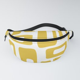 Retro Mid Century Modern Abstract Pattern 336 Mustard Yellow Fanny Pack