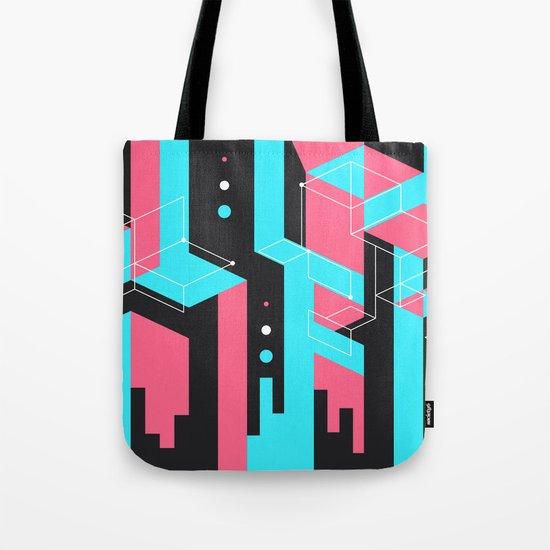 Flat Geometry Tote Bag